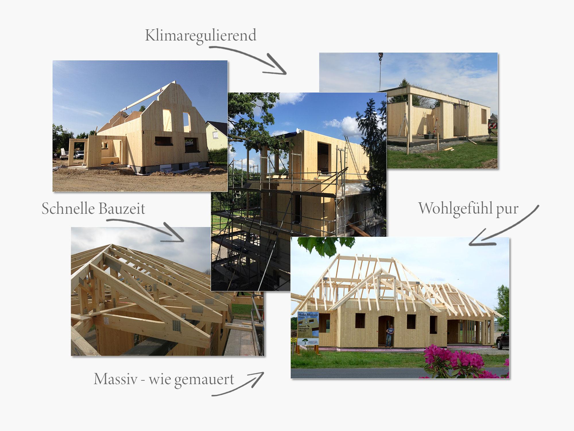 Holz Massiv Haus | Komplett Dach Wittichenau